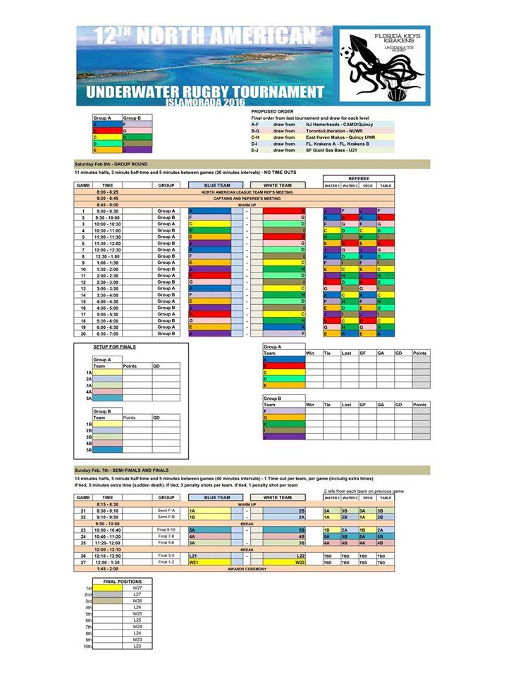 schedule-norteamerican
