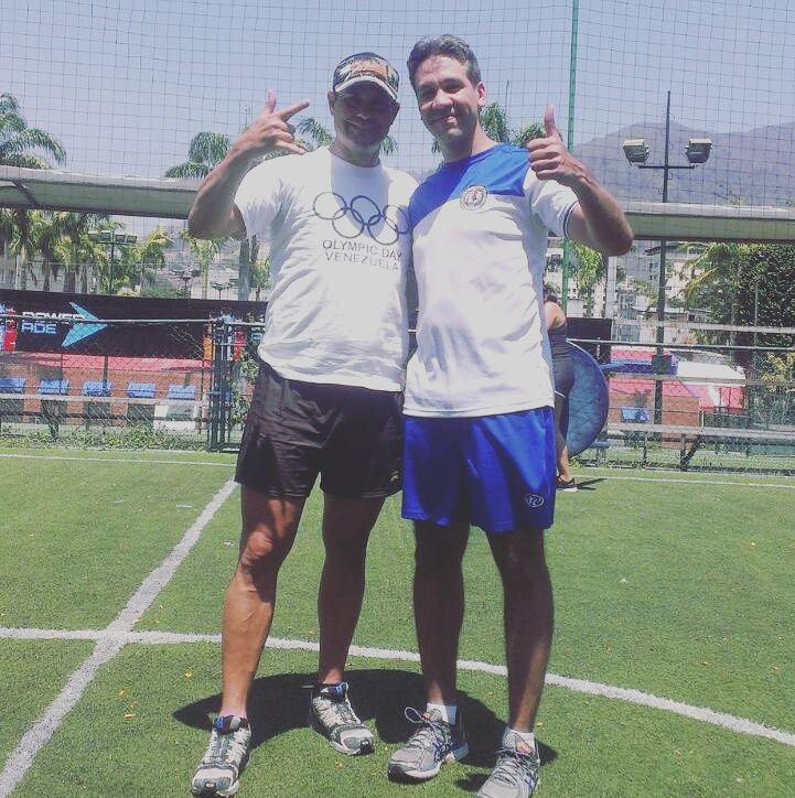 Víctor González y Miguel Cedeño